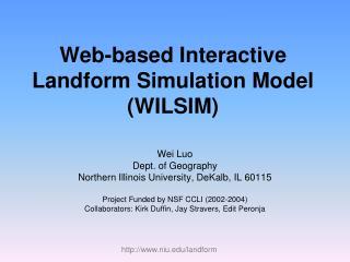 Web-based Interactive Landform Simulation Model (WILSIM)