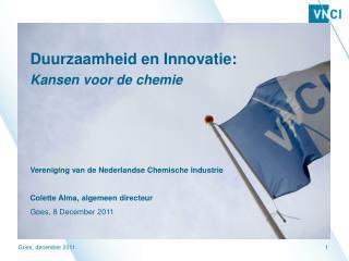 Duurzaamheid en Innovatie:  Kansen voor de chemie