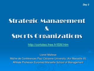 Strategic  Management  & Sports Organizations