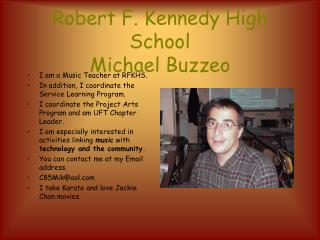 Robert F. Kennedy High School Michael Buzzeo