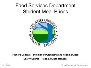 Food Services Department Student Meal Prices