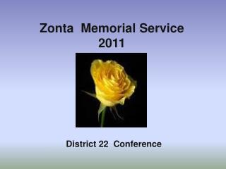 Zonta   Memorial Service 2011