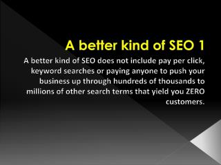 A Better Kind of SEO