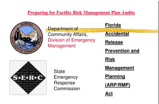 Florida Accidental  Release  Prevention and  Risk  Management  Planning  (ARP/RMP)  Act