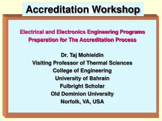Accreditation Workshop