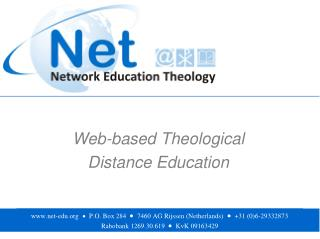 Web-based Theological  Distance Education