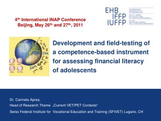 Development and field-testing of   a competence-based instrument  for assessing financial literacy  of adolescents