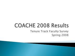 COACHE 2008 Results