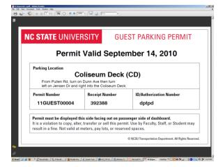 Online Guest Parking Permit