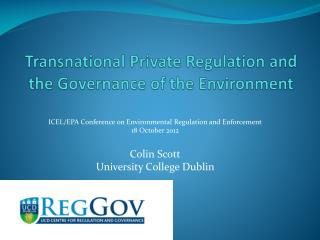 Transnational Private Regulation and the Governance of the Environment