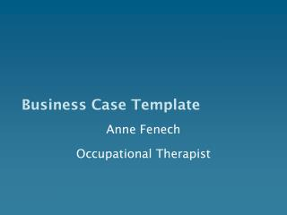Business Case Template