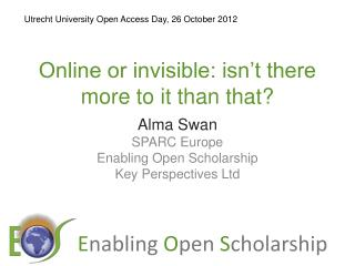 Online or invisible: isn't there more to it than that?