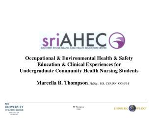 Occupational & Environmental Health & Safety Education & Clinical Experiences for Undergraduate Community Health Nursin