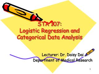 STA 107:  Logistic Regression and Categorical Data Analysis