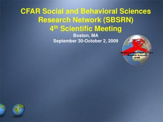 Social and Behavioral Sciences Research Network CFAR