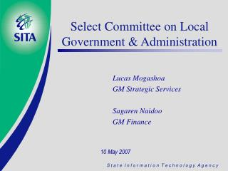 Select Committee on Local Government & Administration