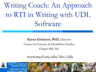Writing Coach: An Approach to RTI in Writing with UDL Software