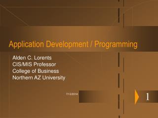 Application Development / Programming