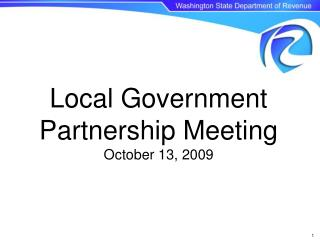 Local Government Partnership Meeting October 13, 2009