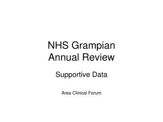 NHS Grampian Annual Review