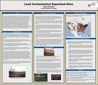Lead Contaminated Superfund Sites Sam Johnson Loyola University Chicago