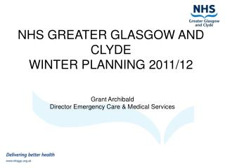 NHS GREATER GLASGOW AND CLYDE WINTER PLANNING 2011/12