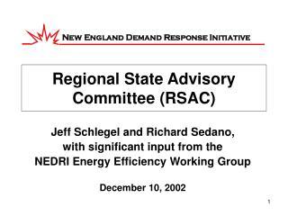 Regional State Advisory Committee (RSAC)