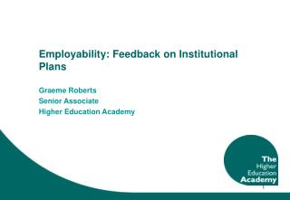 Employability: Feedback on Institutional Plans