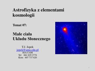 Astrofizyka z elementami kosmologii