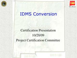 IDMS Conversion