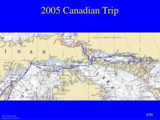 2005 Canadian Trip