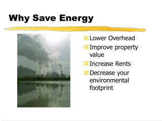 Why Save Energy