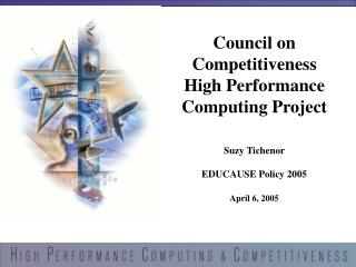 Council on Competitiveness  High Performance Computing Project