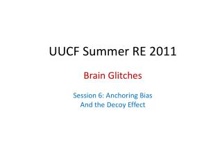 UUCF Summer RE 2011