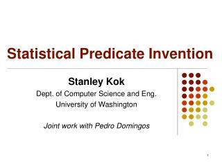 Statistical Predicate Invention