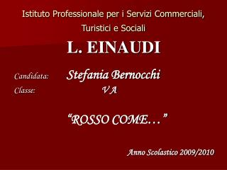Istituto Professionale per i Servizi Commerciali, Turistici e Sociali