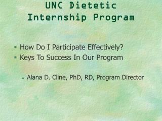 UNC Dietetic Internship Program