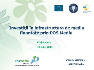 Investiţii în infrastructura de mediu finanţate prin POS Mediu