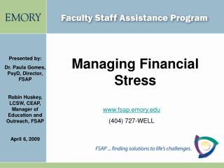 Managing Financial Stress