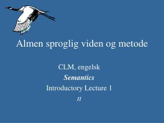 Almen sproglig viden og metode