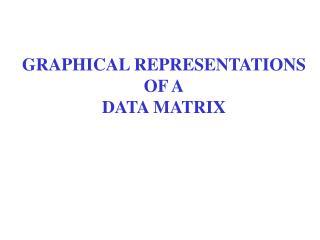 GRAPHICAL REPRESENTATIONS OF A DATA MATRIX