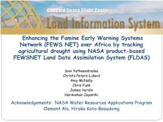 LIS Architecture for FLDAS
