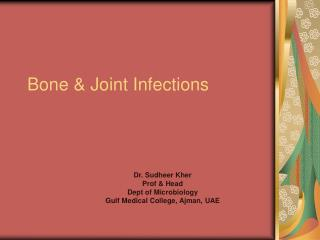 Bone & Joint Infections