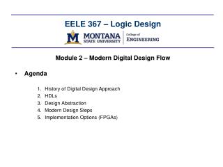 EELE  367 – Logic Design