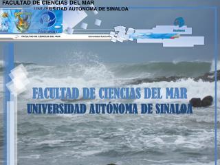 FACULTAD DE CIENCIAS DEL MAR                        UNIVERSIDAD AUTÓNOMA DE SINALOA