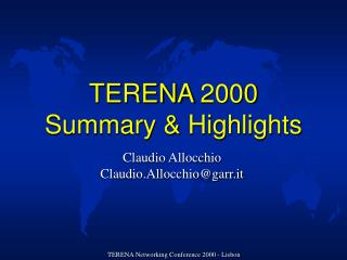TERENA 2000 Summary & Highlights