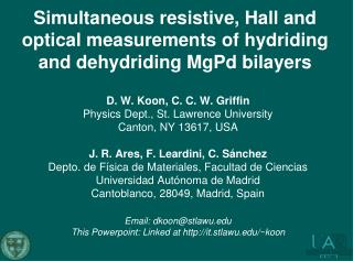 Simultaneous  resistive, Hall and optical measurements  of hydriding and  dehydriding MgPd bilayers