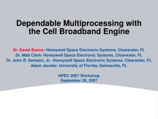 Dependable Multiprocessing with the Cell Broadband Engine