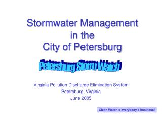 Stormwater Management in the City of Petersburg