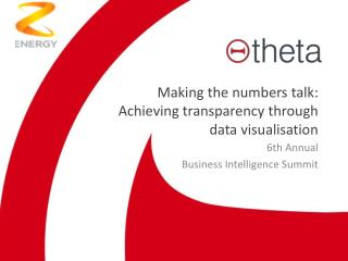 Making the numbers  talk: Achieving  transparency  through data  visualisation